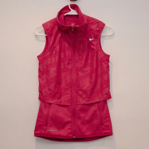 Nike Therma-fit Pink vented vest Women's XS